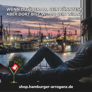 Wir lieben Hamburg. Die passenden Shirt für den Hamburg Liebhaber.